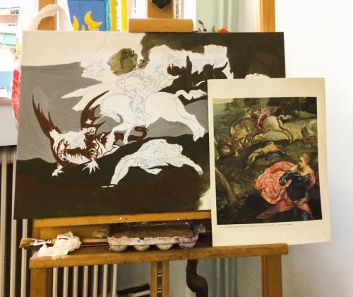 Έργα μελών καλλιτεχνικού εργαστηρίου σε εξέλιξη